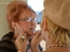 Jennifer Porter touches up Paulette\'s makeup