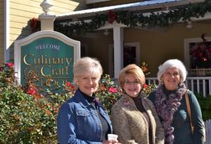 Celia, Christy, Janet outside the culinary school