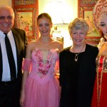 Dick Hasselwander and Brenda Ferebee with ballerinas Anna and Elena