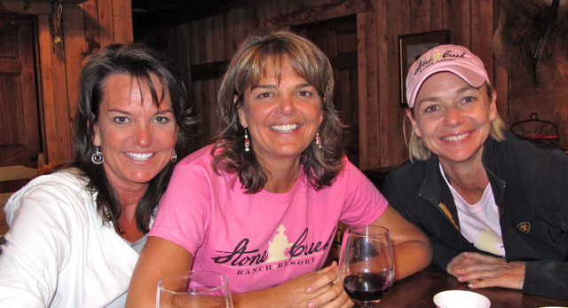 Sisters Julie Wagner, Laurie Boyte, and Karry Bass