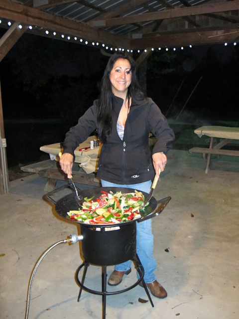 Vell Griesen cooking