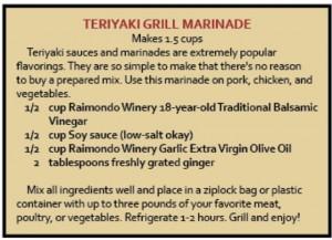 Teriyaki Grill Marinade