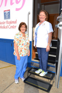 Carolyn Cason and Bonnie Fischer with the MMU