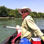 Kelly in the canoe