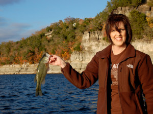 Vanessa Thomas fishing Lake Norfork