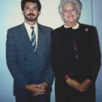 Wayne with Barbara Bush Wearing Adele Simpson