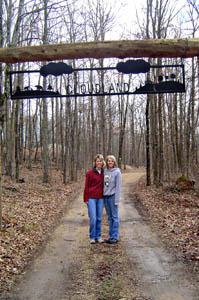 Melissa O'Neal and Jan Badovinac at Cloudland.