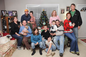 3 Secrets for Putting Yourself in the Picture:  Use your camera's self timer to capture the whole family