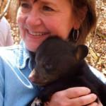 Marilyn Doran with baby bear.