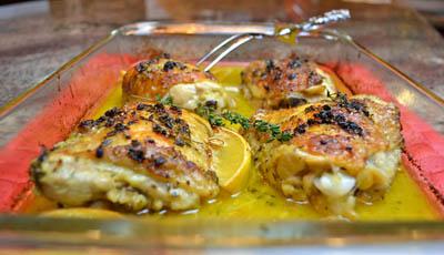 Lemon Thyme Baked Chicken