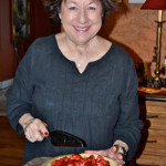 Estella with her Fresh Strawberry Pie.