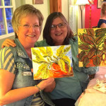 Ruth Ann and Gail at Paint & Sip, March 2015.