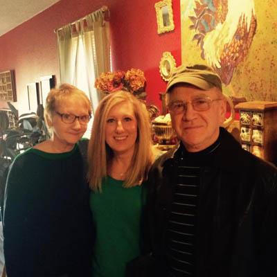 Gwen, daughter Dalal, and husband Tony.