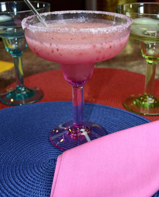 Frozen Cranberry Margaritos