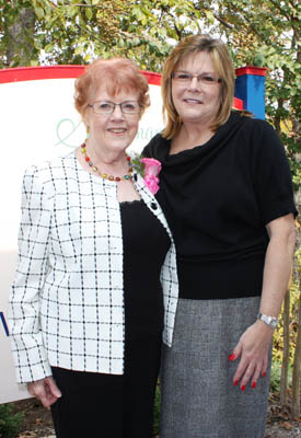 Josée with Dr. Mary Wren.