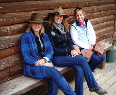 Joyce W., Kelly, and Joyce C. ready to ride.