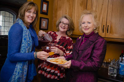 Kelly, Cristy and Lucinda sample the Brie Crisps.