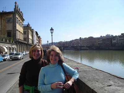 Judi Passman and Christy in Italy