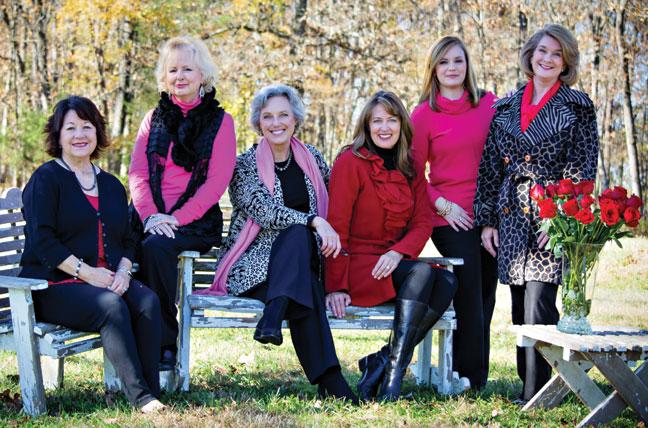 Estella Tullgren, Lucinda Blair, Deb Peterson, Kelly Householder-Giuliano, Sarah Knight and Christy Keirn.