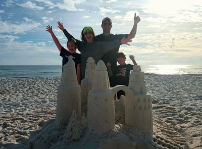 A family vacation at the beach.