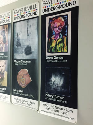Fayetteville Underground posters.