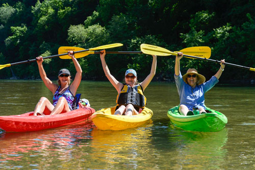 Kayaking on the Buffalo River.