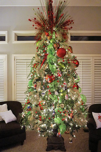 The Carter's Christmas tree.